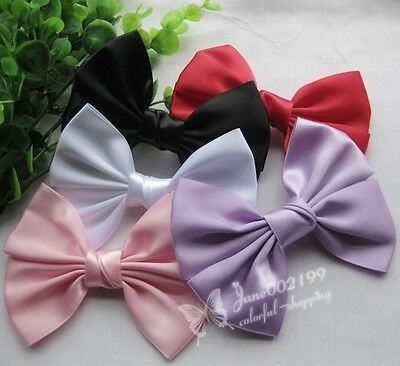 10pcs Big Satin Ribbon Bows Wedding Appliques Sewing Handmade Flowers RB089