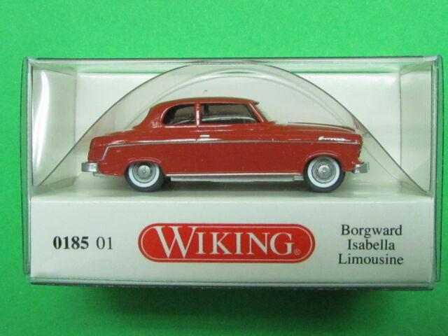 1:87 Wiking 018501 Borgward Isabella Limousine korallenrot Blitzversand per DHL
