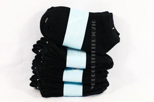 6-8 Kid/'s Boys Girls Low Ankle No Show Comfort Black Socks Cotton Spandex Junior