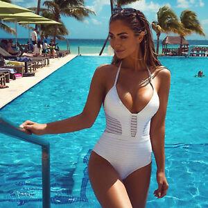 Womens-Bandage-Swimwear-One-Piece-Bikini-Swimsuit-Bra-Push-Up-Beachwear-Bathing