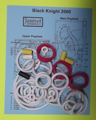 Includes Rubber Ring Kit 1989 Williams Black Knight 2000 Pinball Tune-up Kit