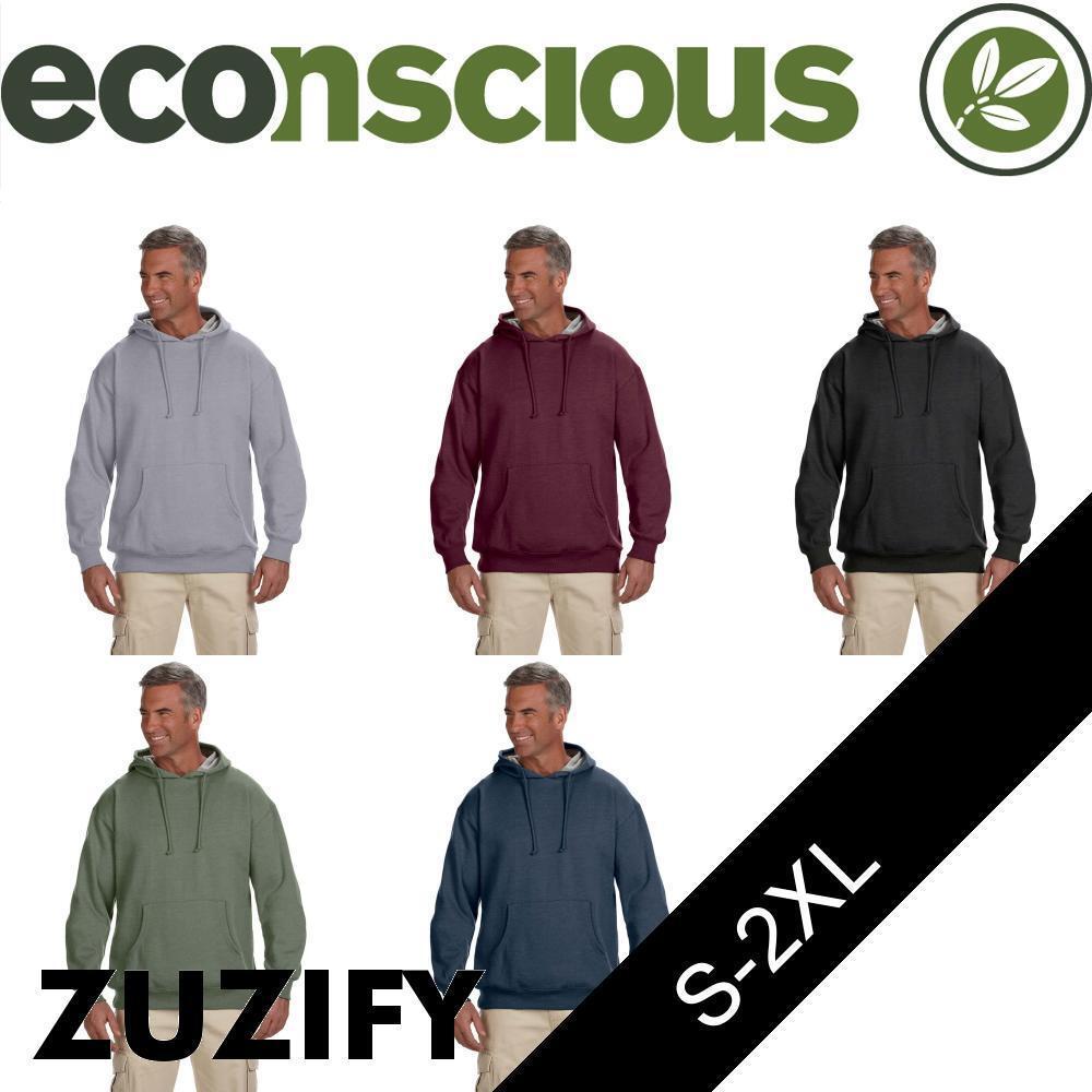 Econscious Organic/Recycled HeatheROT Fleece Pullover Hoodie. EC5570