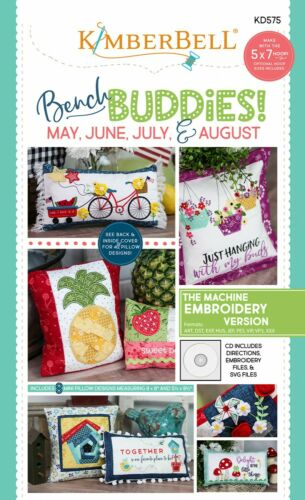 Machine Embroidery CDs Kimberbell Bench Buddies Pillow Quilt Patterns ~ Sewing