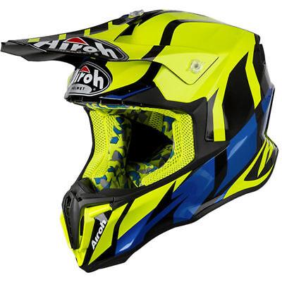 2019 Airoh Twist Helmet Great Yellow Motocross Mx Off Road New Enduro Cheap Bmx Duidelijk Effect