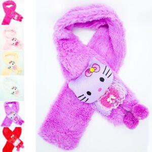 ad5d3de0bd9 Kids Children Winter Cartoon Hello Kitty Scarf Soft Warm Faux Fur ...