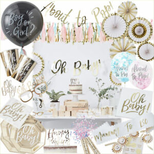 OH BABY! Baby Shower Party Supplies Gender Reveal Decorations Tableware Favours