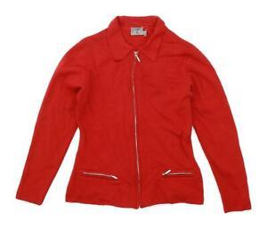 Joy-Jo-Womens-Size-S-Wool-Red-Cardigan-Regular