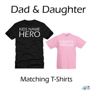 dd1fd2b3e Dad And Daughter Princess And Hero Matching T-Shirts | Fathers Day ...