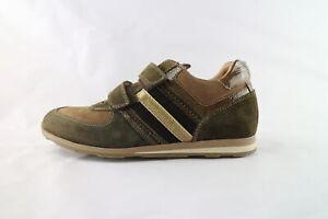 scarpe-bambino-NERO-GIARDINI-36-sneakers-verde-camoscio-marrone-DK52