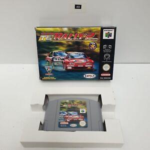 TG Rally 2 II Top Gear Rally 2 Nintendo 64 N64 juego BOXED PAL Oz48