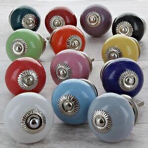 Dettagli su Tinta Unita Ceramica Pomelli Porta Maniglioni Porcellana  Armadio Cucina 4501