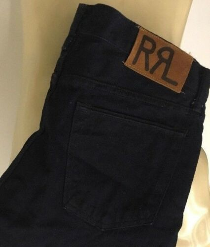 RRL double rl Mens new dark blue Slim narrow Selvedge Denim Jeans japan woven