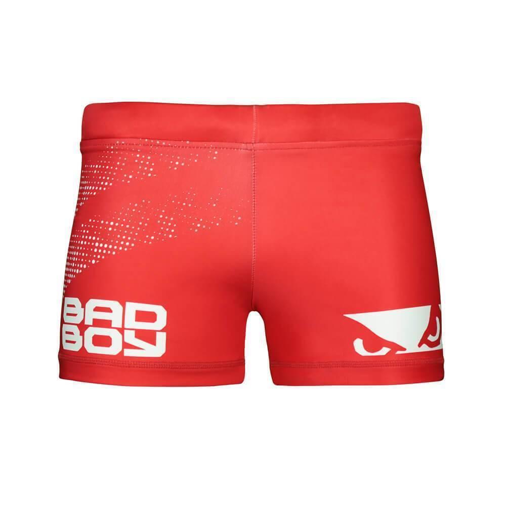 Bad Boy Impact Vale Tudo Compression Shorts Red MMA No Gi Fight Grappling