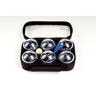 Boule-Set bestehend aus 6 Metallkugeln mit Zubehör, neu