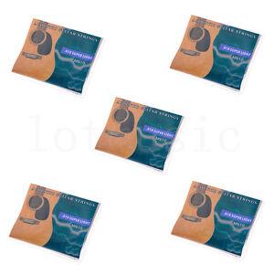 5Set-Guitare-Acoustique-6-Cordes-010-047-034-Super-Leger-Pour-Yamaha-Taille-De-Remplacement