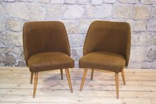 2 Stück Stuhl Kult Retro Clubsessel Lounge Sessel - chair Stoff Paar