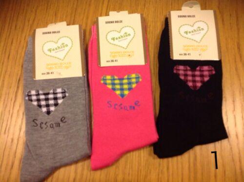 set 3 paia calze donna corte in caldo cotone ottima qualita €6,50 affare