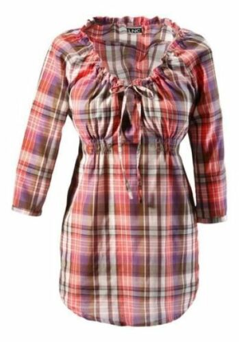 Pink-taupe ANISTON Karo-Bluse Longbluse KP 46,99 € /%SALE/% NEU!!