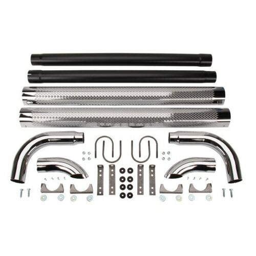 Patriot Exhaust H1070 Chrome Side Pipes w//Mufflers 70 Inch PR