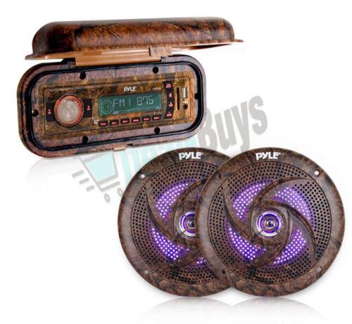 Pair of Waterproof speakers /& Radio Cover Pyle Camo Radio Headunit Receiver