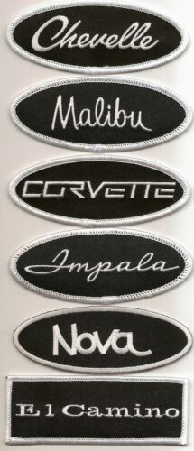 CHEVROLET CAPRICE BLACK WHITE EMBROIDERED SEW//IRON ON PATCH 1965 1966 1975 1985