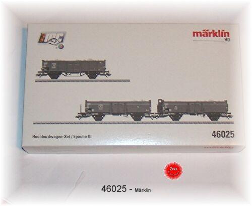 Märklin 46025 alto bordo Set carro della DB 3 pezzi #neu in OVP #