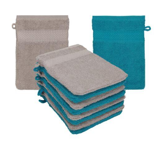 Betz 10 Waschhandschuhe Waschlappen Waschhandschuh PALERMO 100/%Baumwolle 16x21cm