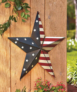 metal star outdoor decor 2 feet wide american stars and stripes house decor ebay. Black Bedroom Furniture Sets. Home Design Ideas