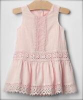 Baby Gap Babygap Vintage Light Pink Lace Dress 6-12 Months Twins