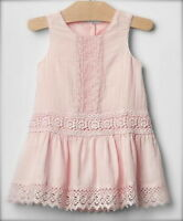 Baby Gap Vintage Light Pink Lace Dress 18-24 Months All Seasons