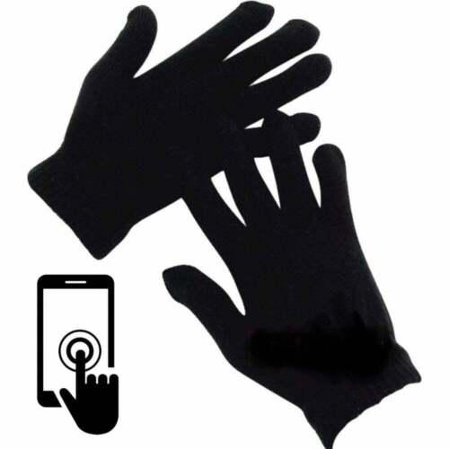 Les adultes écran Tactile Nouveau Magique Gants stretch hiver homme noir femme Téléphone UK