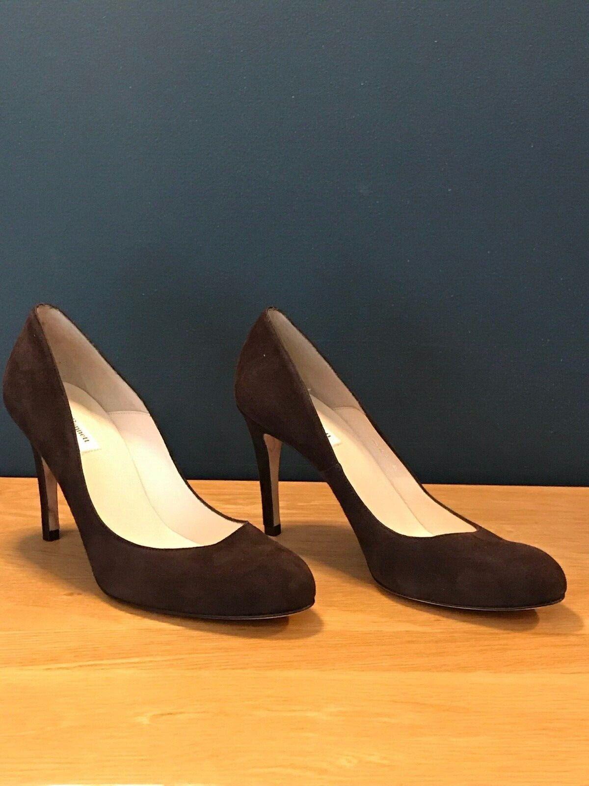 LK Bennett Court  scarpe In Marronee Suede Shilo Style Dimensione UK 7   8 - EU 41  negozio all'ingrosso