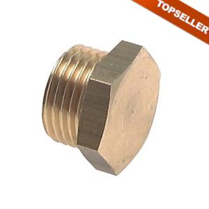 Verschluss-Stopfen mit Außensechskant und zylindr Druckluft Verbinder Gewinde
