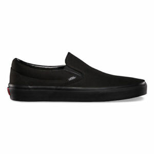 Vans-CLASSIC-SLIP-ON-BlackOnBlack-NAVY-Canvas-Shoes-All-Size-Fast-Shipping