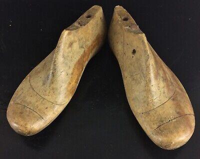 Bello Ancienne Paire De Formes, Matrice, Embouchoir à Chaussure En Bois Taille 36