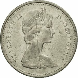 [#434055] Coin, Canada, Elizabeth II, 10 Cents, 1972, Royal Canadian Mint