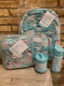 Pottery Barn Kids Magical Mermaid Large Backpack Lunchbox