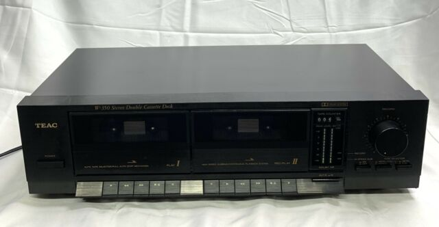 TEAC Model W-350 Stereo Double Cassette Deck/Player Tested/Clean