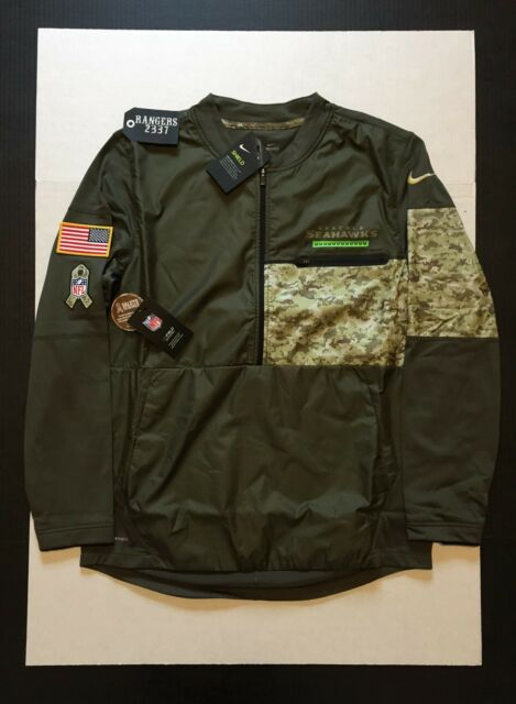 new styles 6a0db f3140 Nike Seattle Seahawks Salute to Service Hybrid Jacket 2017 STS Mens Size M