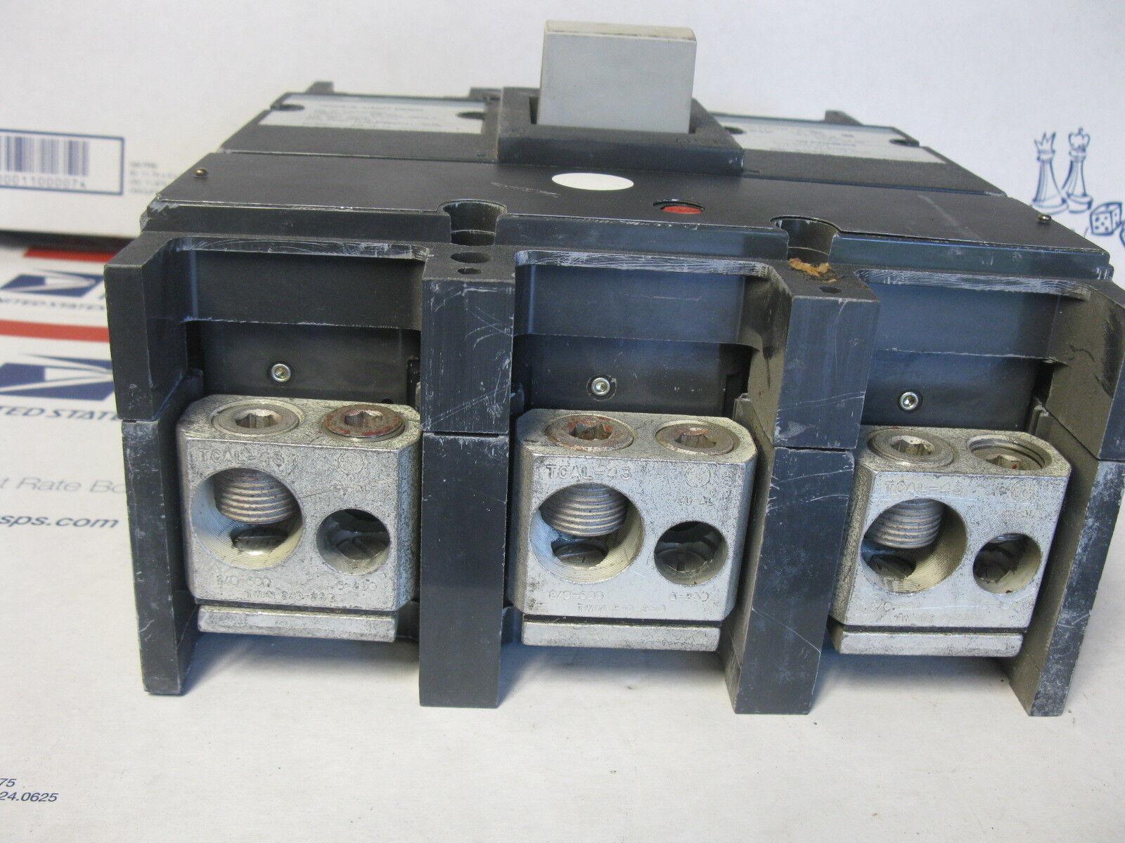 3 Pole Circuit Breaker- WARRANTY 300 Amp GE TJD432300 240 Volt Black