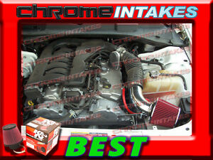 RED 2005-2010 DODGE CHARGER//CHALLENGER//MAGNUM//300 2.7L 3.5L V6 AIR INTAKE S