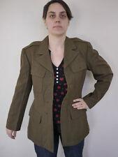 Vintage 40s M1943 US Army Military Wool Serge Uniform Dress Coat NO BUTTONS M43