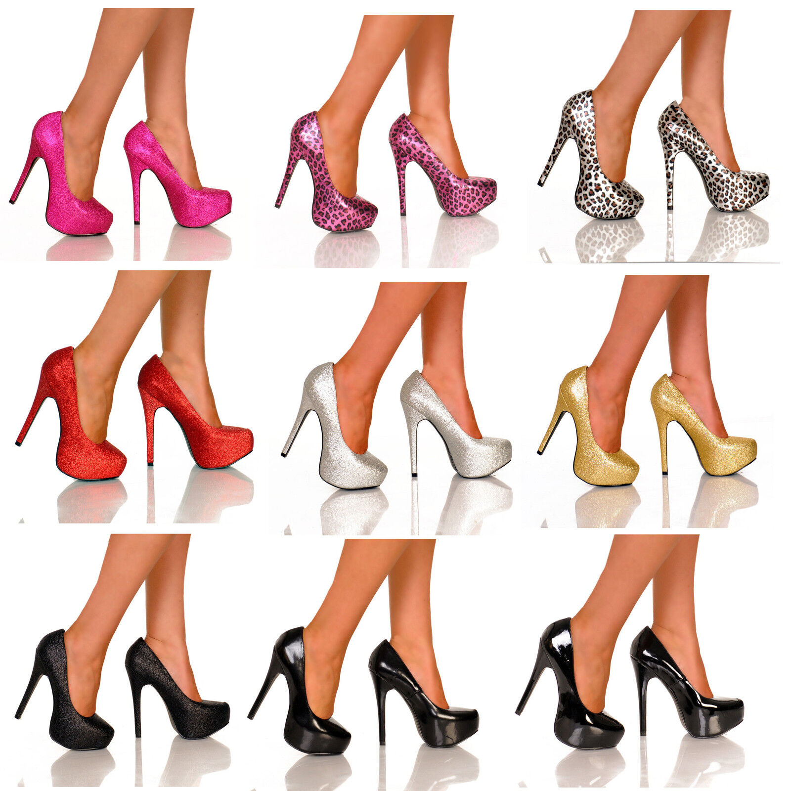 The Highest Heel KISSABLE-11 Sexy 5 1 2  Covered Platform Plain Pump Size 5-13