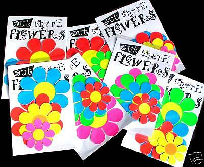 RETRO 1960's 70's HIPPIE HIPPY GROOVY MOD FLURO FLOWER POWER STICKERS 4 PACK.   eBay