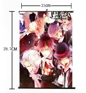 Hot Japan Anime DIABOLIK LOVERS Yui Whole Art Home Decor Poster Wall Scroll 02
