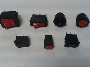 10 Stück Schalter Taster Ein Aus Wechselschalter beleuchtet NEU 12V 230V Posten