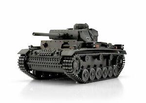 CoopéRative Torro 1/16 Rc Panzer Iii Medium Tank Rtr Metal Pro Edition Wooden Crate-afficher Le Titre D'origine