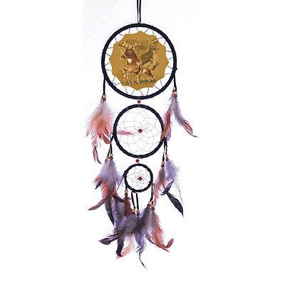 """New 20/"""" Long Deer Buck Forest Dream Catcher Wall Hang Decor Feathers Bead Gift"""