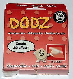 Klebepunkte-Dots-Dodz-Foampads-Karten-3D-permanent-transparent-starker-Halt