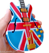 Noel Gallagher OASIS Super Nova Semi Hollow Sher Miniature Guitar Union Jack
